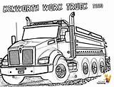 Coloring Truck Kenworth Pages Dump Trucks Boys Colouring Semi Construction Dirty Cabover Books Template Sketch Super sketch template