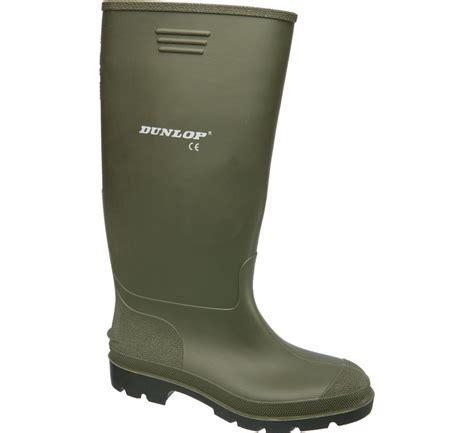 Men's green Dunlop wellingtons   Deichmann