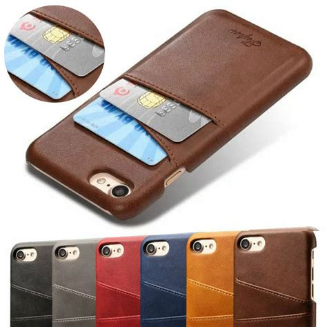 Ensure you have selected or entered the correct delivery address. New Card Slot Holder Skin Leather Case Phone Back Cover For iPhone 6 6S 7 Plus   eBay