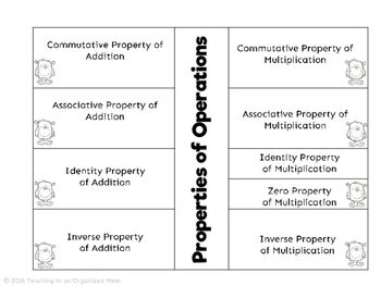Properties Of Operations Notes By Teaching In An Organized Mess Tpt