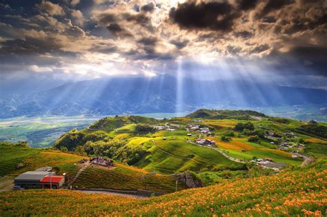 landscape, Clouds, Field, Taiwan Wallpapers HD / Desktop ...