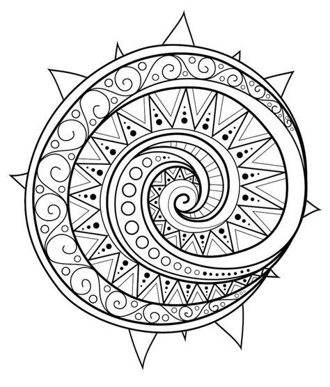 circular mandala doodle  color mandalas mandala