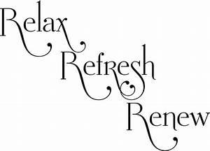 Relax Refresh Renew Bathroom-Vinyl Lettering by