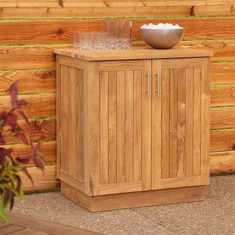 outdoor cabinets for patio 30 quot artois teak outdoor kitchen cabinet outdoor