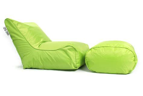 canape geant fauteuil pouf big52 vert avec repose pieds 75