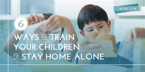 ways  train  children  stay home  imom
