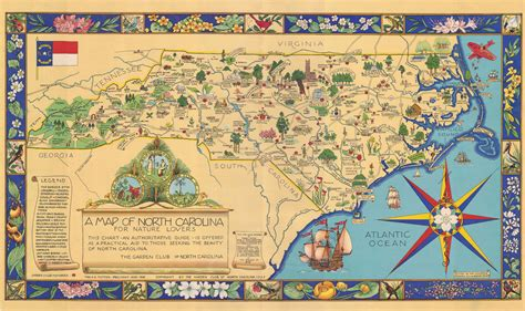 A Map Of North Carolina For Nature Lovers Jigsaw Puzzle