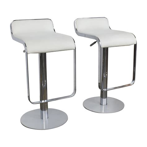 Modern White Leather Bar Stools by 88 Off All Modern All Modern White Leather Bar Stools