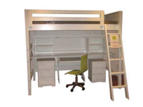 bunk bed queen size with desk and shelves from ikea