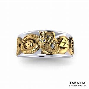 takayas custom jewelry is making geeky jewelry dreams come With dragon ball z wedding ring for men