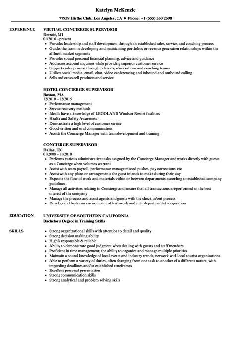 Concierge Resume Sle by 12 13 Concierge Duties Resume B10l