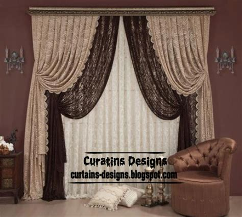 stylish chocolate curtain style for living room luxury