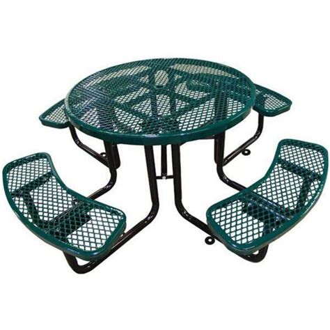 picnic table plastic coated expanded metal