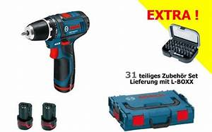 Bosch Blau Set : g nstig bosch akkubohrschrauber set gsr 10 8 2 li professional blau l boxx 2x akku 1 3 ah ~ Eleganceandgraceweddings.com Haus und Dekorationen