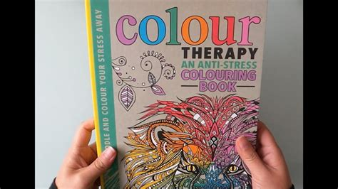 colour therapy  anti stress colouring book youtube