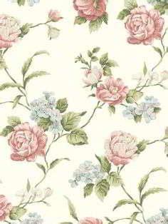 motif wallpaper dinding bunga interior rumah