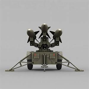 low poly hawk missile launcher 3d max