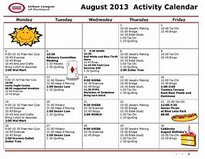 10 best images of sample activity calendars for seniors With activity calendar template for seniors