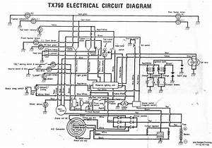 Yamaha tx750 interest site for Electrical wiring schematic diagram