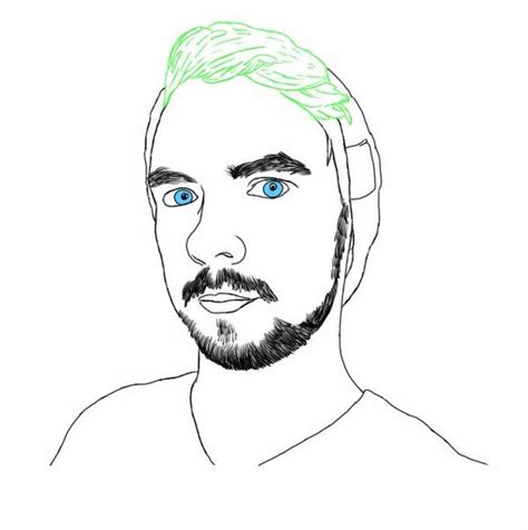 jacksepticeye handsome coloring page  printable
