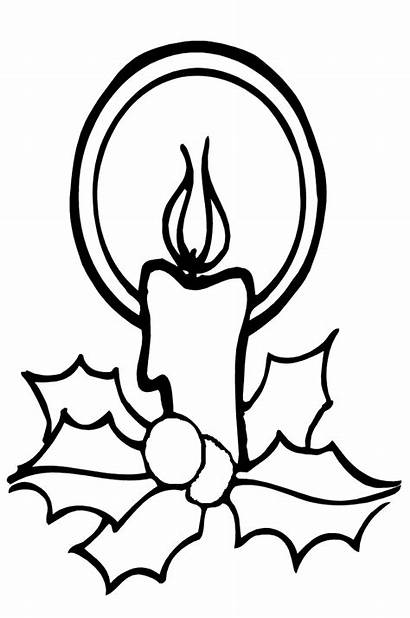 Candle Coloring Christmas Pages Picgifs
