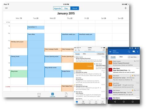 outlook for android l application microsoft outlook d 233 barque sur ios et android