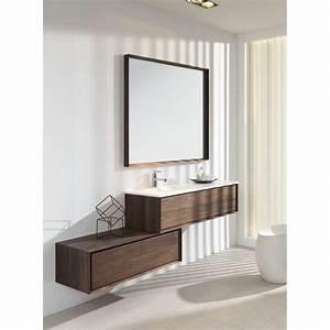 meuble simple vasque 140 cm vague chaioscom With meuble salle de bain 140 simple vasque