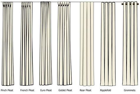 different drapery pleat styles drapery in miami