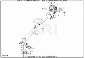 Homelite Ut32000 26cc String Trimmer Parts Diagram For