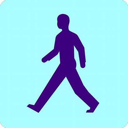 Walking Clip Clipart Clker Vector Domain