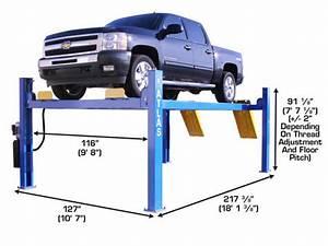 4 Post Commercial Grade Car Lift  Atlas 414  14 000 Lbs