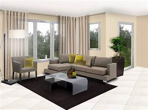 inspiration decoration salon moderne With decoration maison salon moderne
