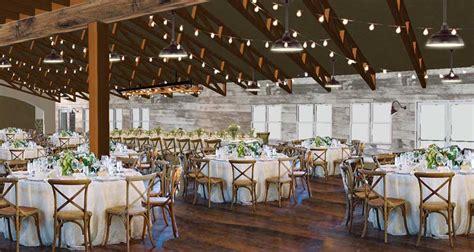 dining area  crossbacks  barn lights weddings