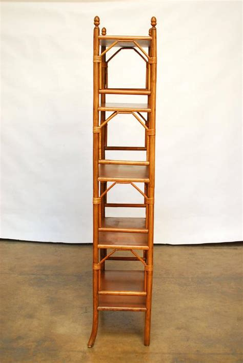 Faux Bamboo Etagere by Faux Bamboo Rattan Etageres At 1stdibs