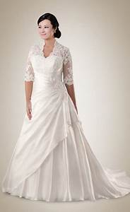 full figured wedding dresses with sleeves With wedding dresses for full figures