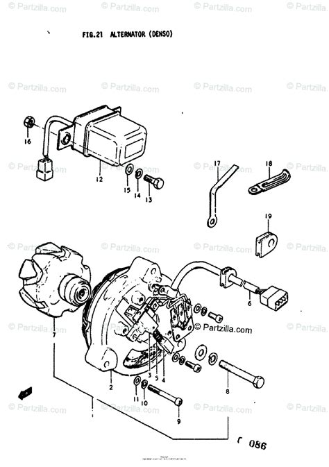 suzuki motorcycle 1976 oem parts diagram for alternator denso partzilla com