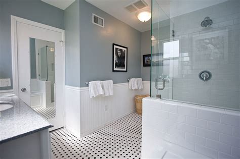 white tile bathroom ideas traditional black and white tile bathroom remodel traditional bathroom los angeles by