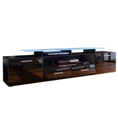 tv board günstig ᐅᐅ tv board lowboard almada v2 in schwarz schwarz hochglanz