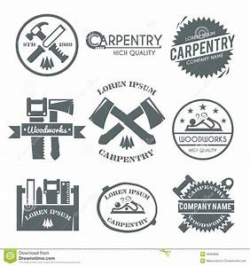 Carpentry Label Set Stock Vector - Image: 49363890