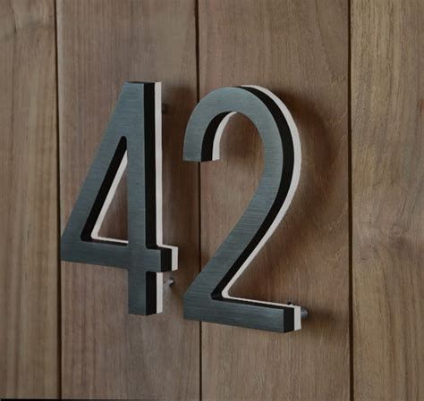 light in the box address 3d led backlit brushed stainless steel house number with