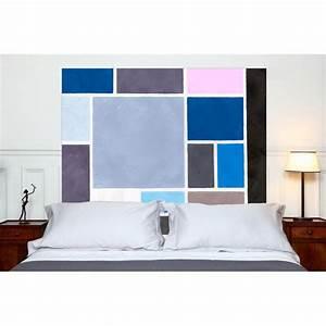 Tete De Lit Tissu : t te de lit en tissu poudr es bleues france avenue ~ Premium-room.com Idées de Décoration