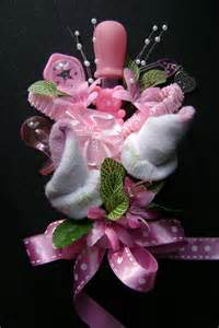 baby sock corsage baby shower corsage baby girl bootie corsage new by