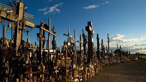 lithuanias amazing hill  crosses