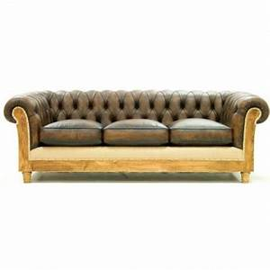 canape chesterfield 3 places cuir bicolore mon chalet design With tapis de yoga avec chesterfield canapé lit