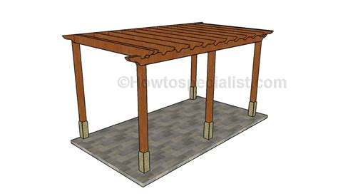 attached pergola plans howtospecialist how building an attached pergola howtospecialist how to