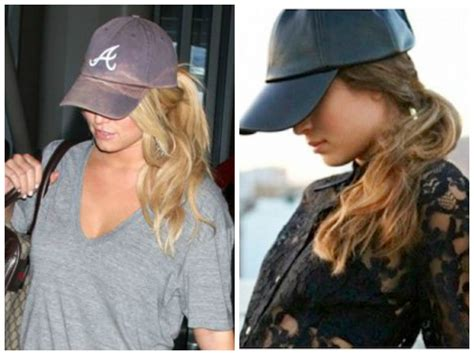 the best hairstyles to wear with a baseball cap hair