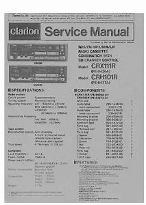 Clarion Crx111r Crh101r Sm Service Manual Download