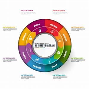 Infographic Circular Diagram Vector Design Template  Can