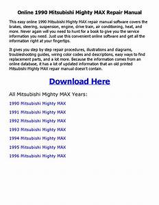 1990 Mitsubishi Mighty Max Repair Manual Online By
