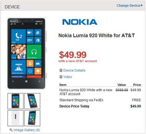 walmart offers at t nokia lumia 920 for 49 99 820 for free gadgetian